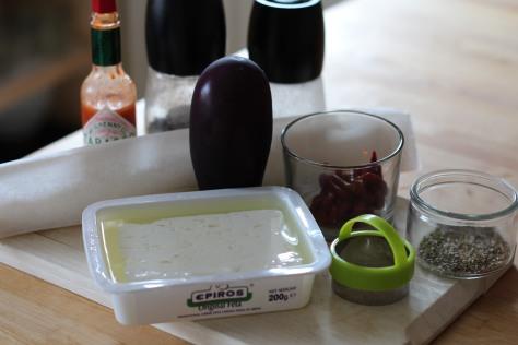 mini feuilleté aubergine féta