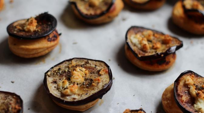 Mini feuilleté d'aubergine féta – Recette Finger Food