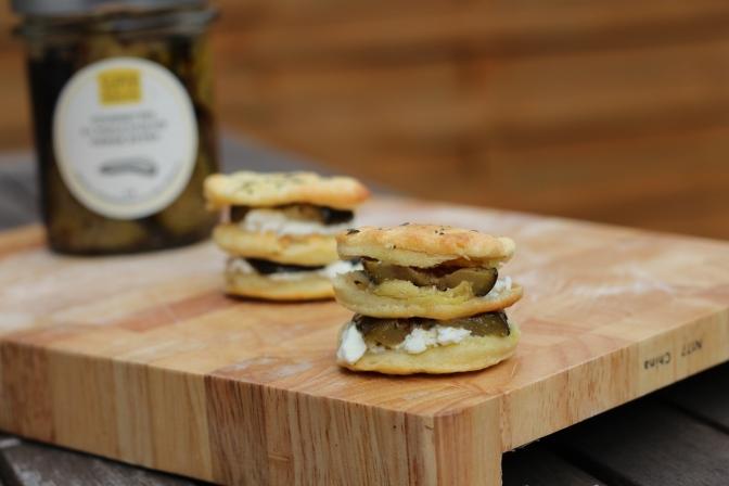 Mini-feuilleté à la feta, à l'origan et aux courgettes à l'huile d'olive Superproducteur