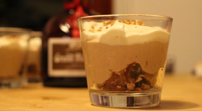 Verrine de Noël – crème de marrons et Grand Marnier