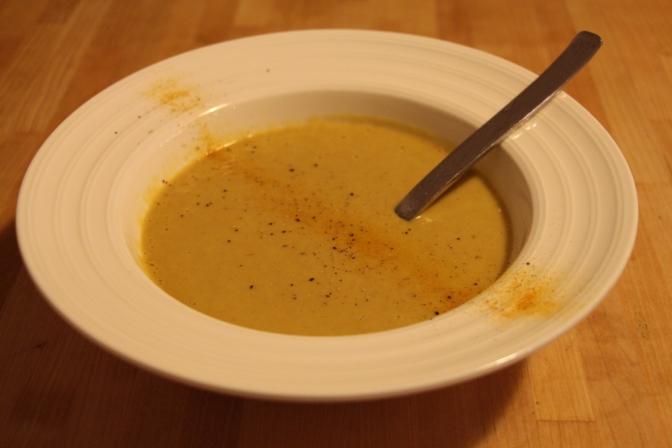 Velouté de pois cassés curry coco